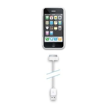 USB datový kabel CellularLine s konektorem Apple 30-pin, bílý, box