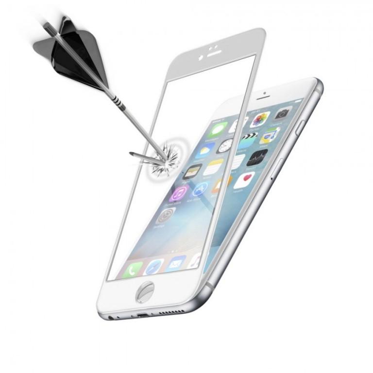 Ochranné tvrzené sklo pro celý displej CellularLine CAPSULE pro Apple iPhone 6 Plus / 6S Plus, bílé