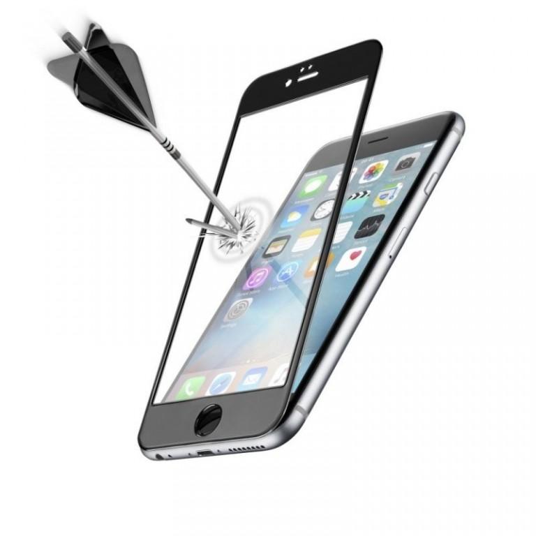 Ochranné tvrzené sklo pro celý displej CellularLine CAPSULE pro Apple iPhone 6 Plus / 6S Plus, černé