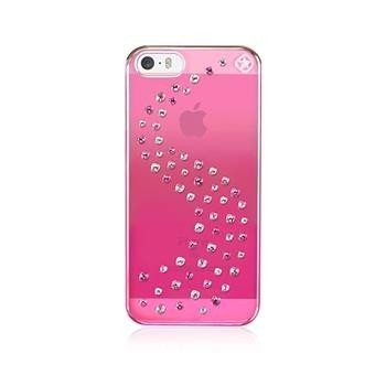 Zadní kryt Bling My Thing Milky Way Pink Metallic Love Mix pro Apple iPhone 5/5S/SE, MADE WITH SWAROVSKI® ELEMENTS+folie