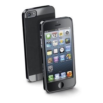 Zadní extratenký ochranný kryt CellularLine Soft Slim pro Apple iPhone 5/5S/SE Černý