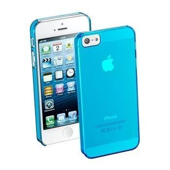 Zadní kryt CellularLine Cool Fluo pro Apple iPhone 5/5S/SE Modrý + fólie