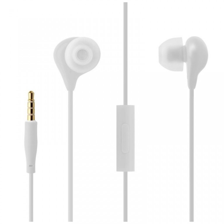 In-ear sluchátka s mikrofonem FIXED EGG1, Bílá