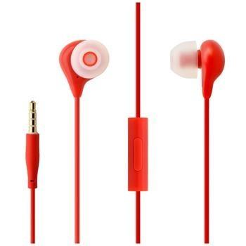 In-ear sluchátka s mikrofonem FIXED EGG1, červená