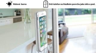 Adhezivní zadní kryt CellularLine SELFIE CASE pro Apple iPhone 7, stříbrné
